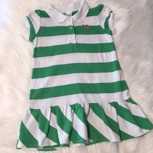 Gymboree green striped polo dress Size 4
